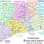 Map Of Ct Towns And Counties For Printable Map Of Connecticut