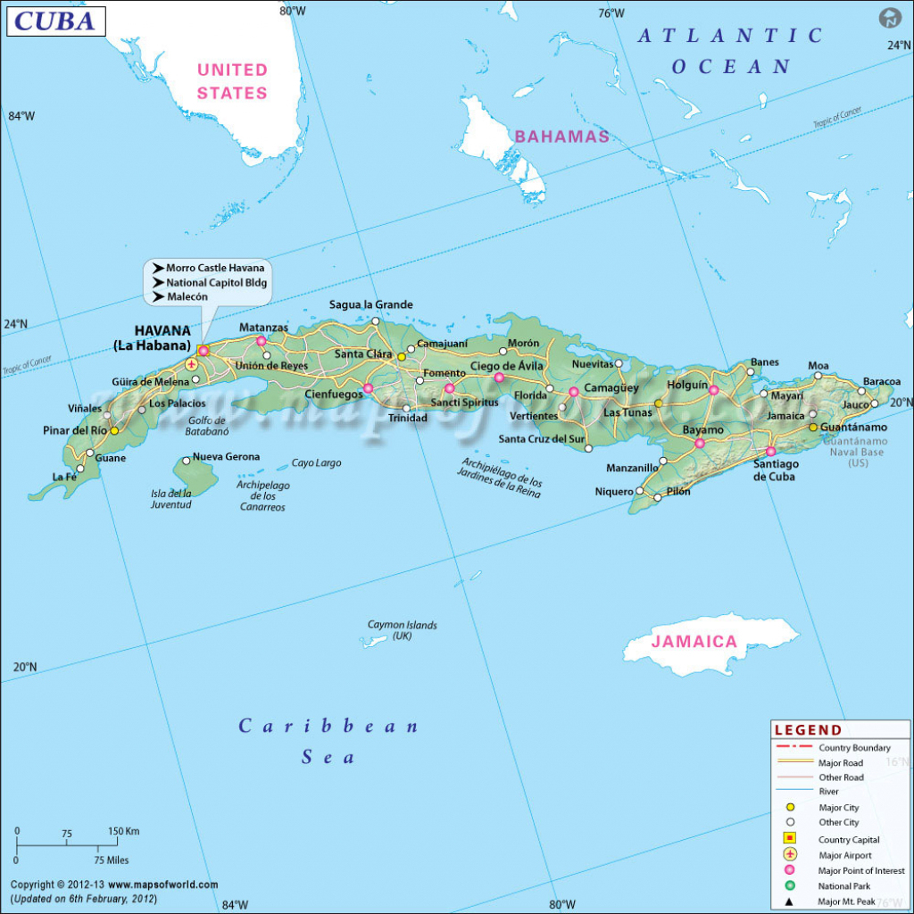 Map Of Cuba, Cuba Map inside Printable Outline Map Of Cuba
