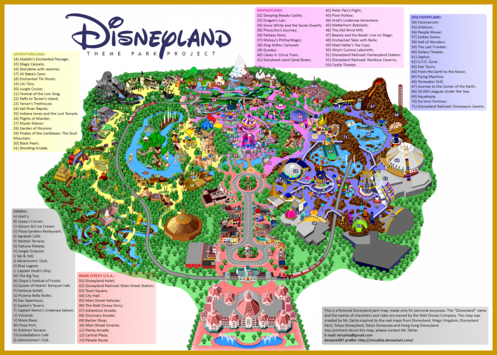 Map Of Disneyland California Road Map Printable Map Of Disneyland throughout Printable Disney Maps