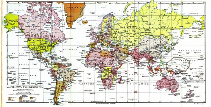World Map Latitude Longitude Printable