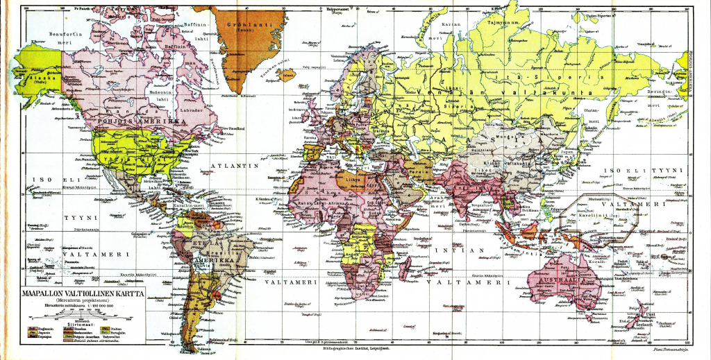 This is a picture of Bright World Map With Latitude and Longitude Lines Printable