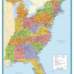 Map Of East Coast Usa States With Cities Map United States Printable Throughout Printable Map Of Usa States And Cities