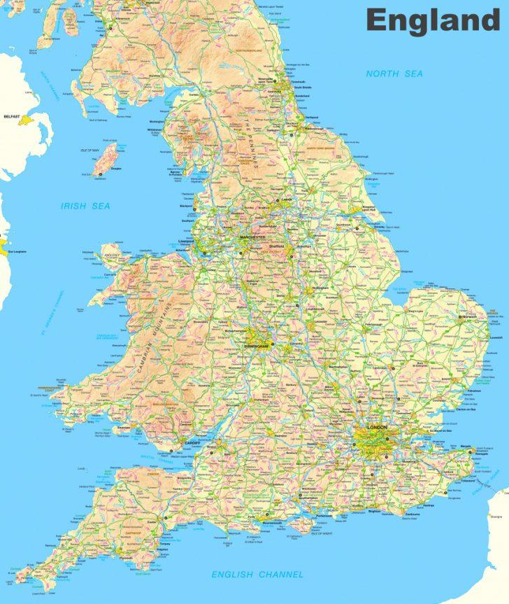Printable Map Of England And Scotland