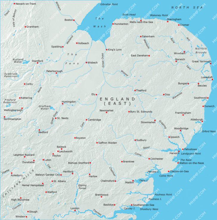 Printable Map Of East Anglia