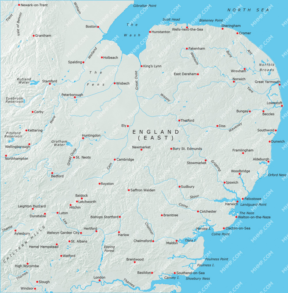 Map Of England East Anglia | Download Them And Print pertaining to Printable Map Of East Anglia
