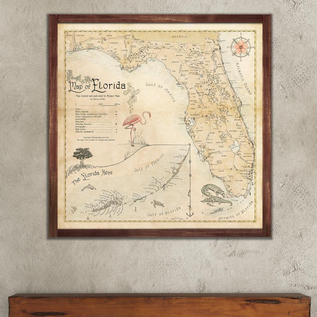 Map Of Florida – Royale Maps throughout Florida State Map Printable