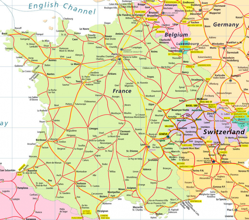 Map Of France And Switzerland - Recana Masana within Printable Map Of Switzerland