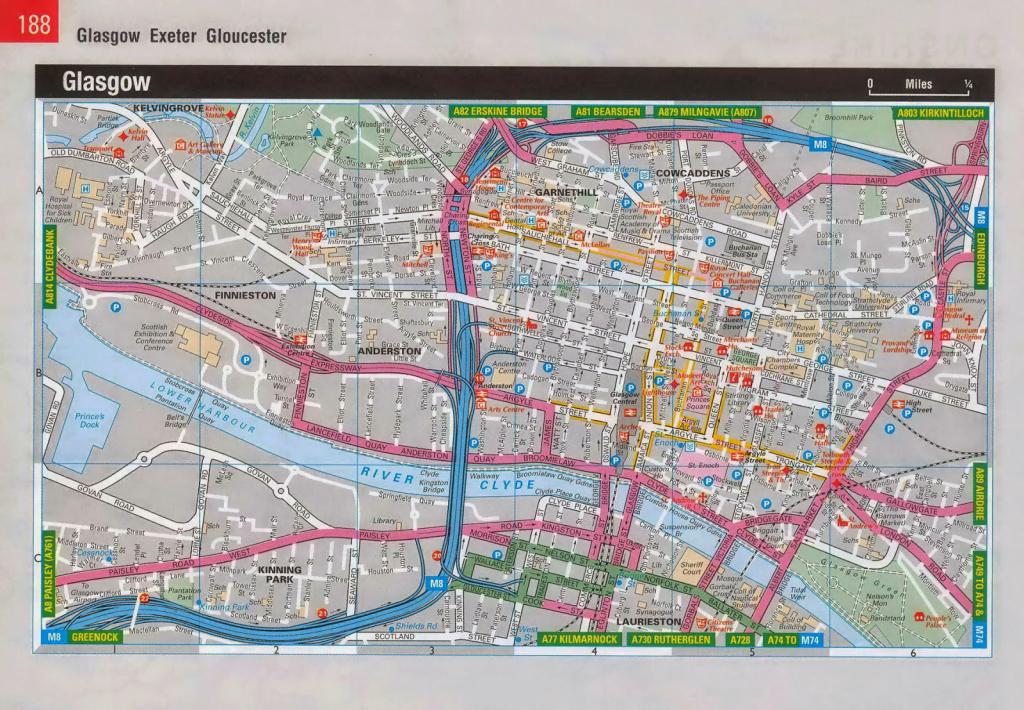 Map Of Glasgow, Scotland - Free Printable Maps for Glasgow City Map Printable