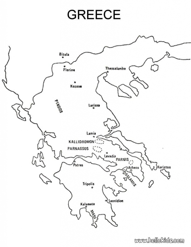 Map Of Greece Printable And Travel Information   Download Free Map with regard to Outline Map Of Greece Printable