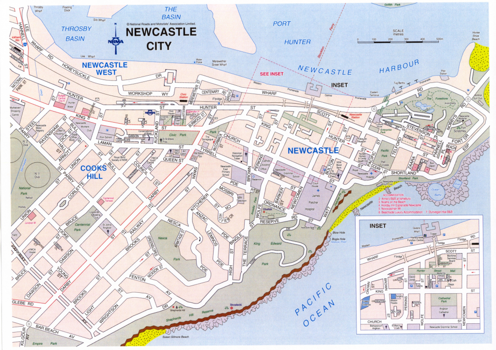 Map Of Hamilton Nsw | Download Them And Print with Printable Map Of Newcastle Nsw