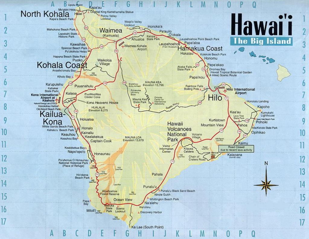Map Of Hawaii The Big Island | Afputra regarding Map Of The Big Island Hawaii Printable