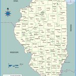 Map Of Illinois Counties With Names Towns Cities Printable In Illinois State Map Printable