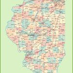 Map Of Illinois With Cities And Towns Intended For Illinois State Map Printable