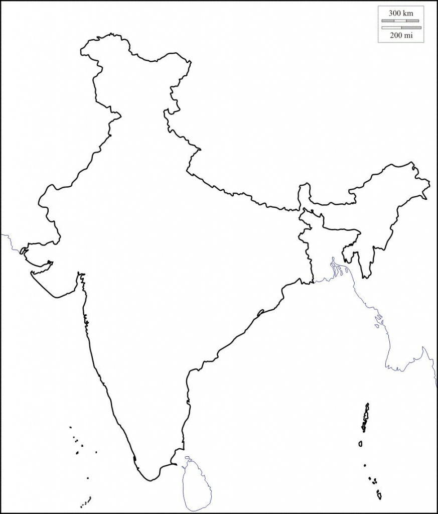 Map Of India Outline | Map Of India With States In 2019 | India Map in India Outline Map A4 Size Printable