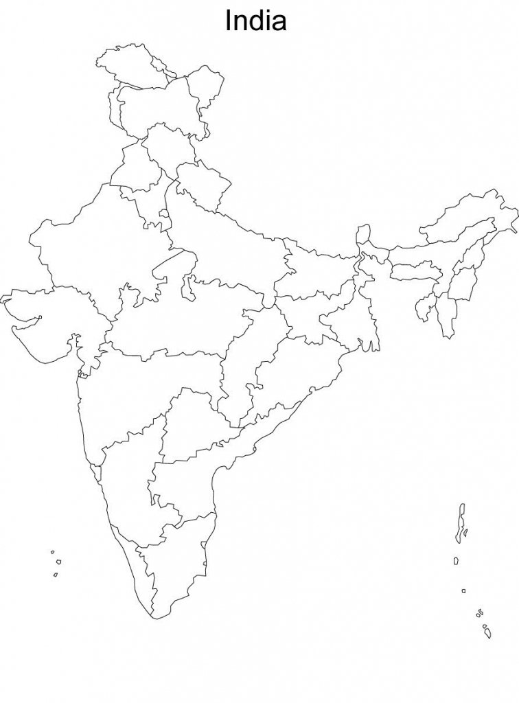 Map Of India Without Names Blank Political Map Of India Without inside Map Of India Blank Printable