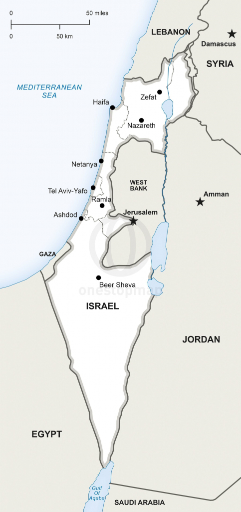 Map Of Israel Political In 2019 | Maps | Map, Israel, Map Vector with Printable Map Of Israel Today