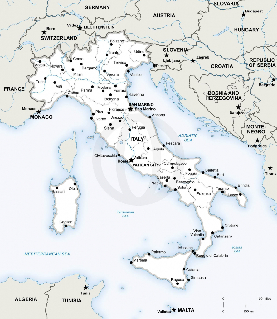 Map Of Italy Political In 2019 | Free Printables | Italy Map, Map Of inside Printable Map Of Italy With Regions