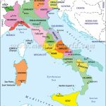 Map Of Italy Showing Cities   Free Large Images | Travel In 2019 Intended For Printable Map Of Italy With Regions