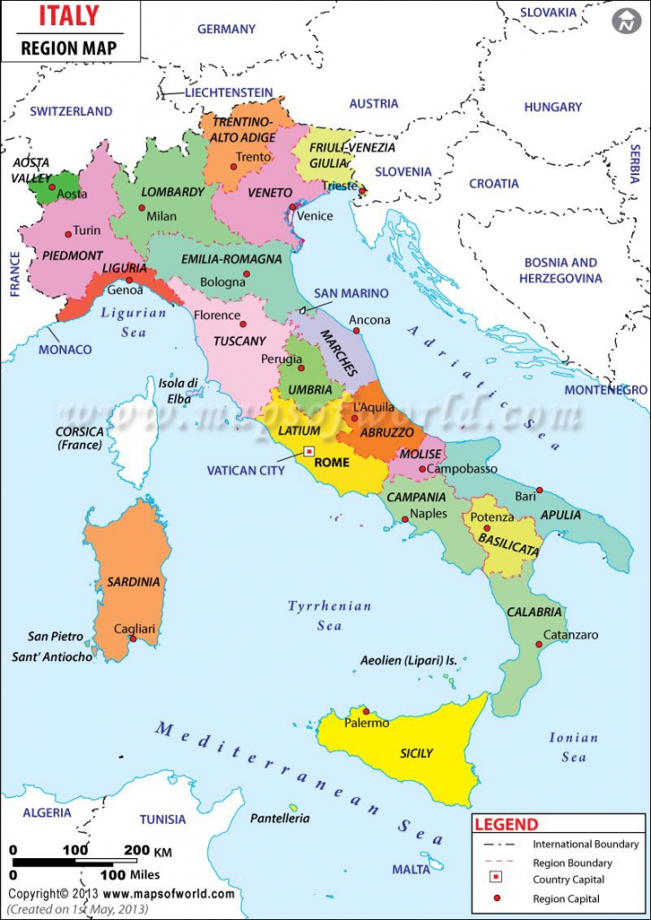 Map Of Italy Showing Cities - Free Large Images | Travel In 2019 intended for Printable Map Of Italy With Regions