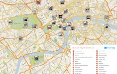 Map Of London With Tourist Attractions Download Printable Street Map regarding Printable Map Of London