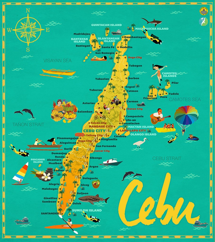 Map Of Mactan 26 Cordova 2C Province Of Cebu 2C Philippines 15 Cebu with regard to Cebu City Map Printable