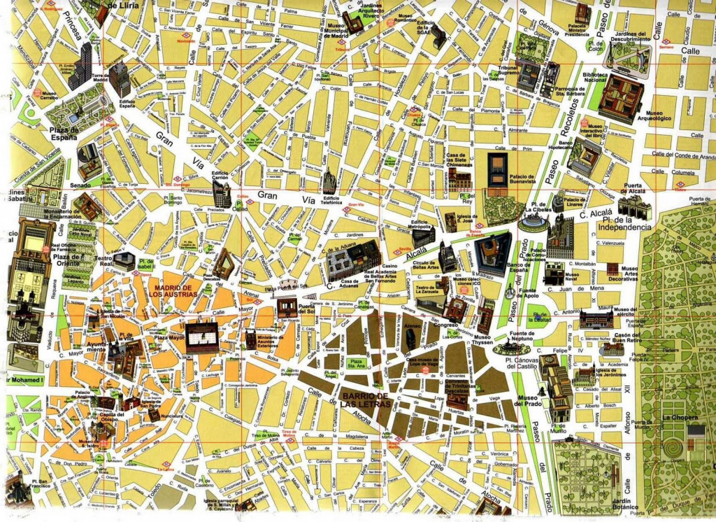 Map Of Madrid, Spain - Free Printable Maps in Printable Map Of Madrid