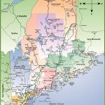 Map Of Maine Coast Regarding Maine State Map Printable