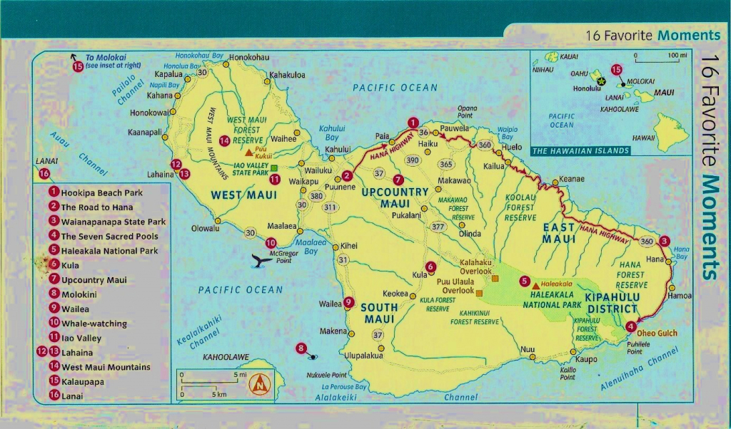 Map Of Maui Hawaii | Afputra throughout Printable Map Of Maui