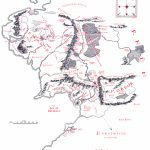 Map Of Middle Earth   J.r.r. Tolkien Pertaining To Printable Hobbit Map
