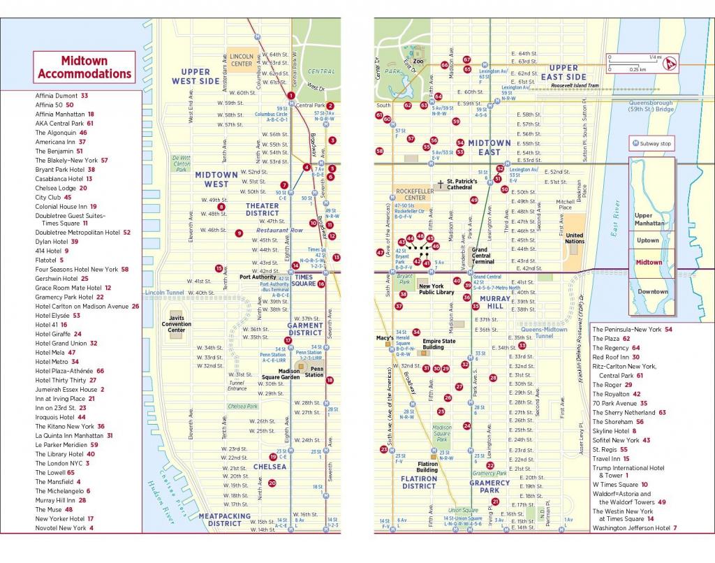 Map Of Midtown Manhattan Printable - Printable Walking Map Of throughout Printable Walking Map Of Midtown Manhattan