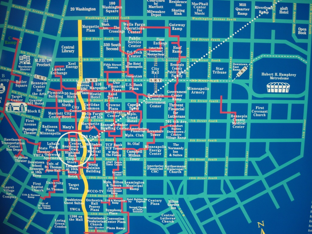 Map Of Minneapolis Skyway | Afputra pertaining to Minneapolis Skyway Map Printable