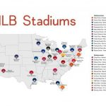 Map Of Mlb Ballparks Stadium Checklist Baseball Stadiums Mlb Etsy For Printable Map Of Mlb Stadiums