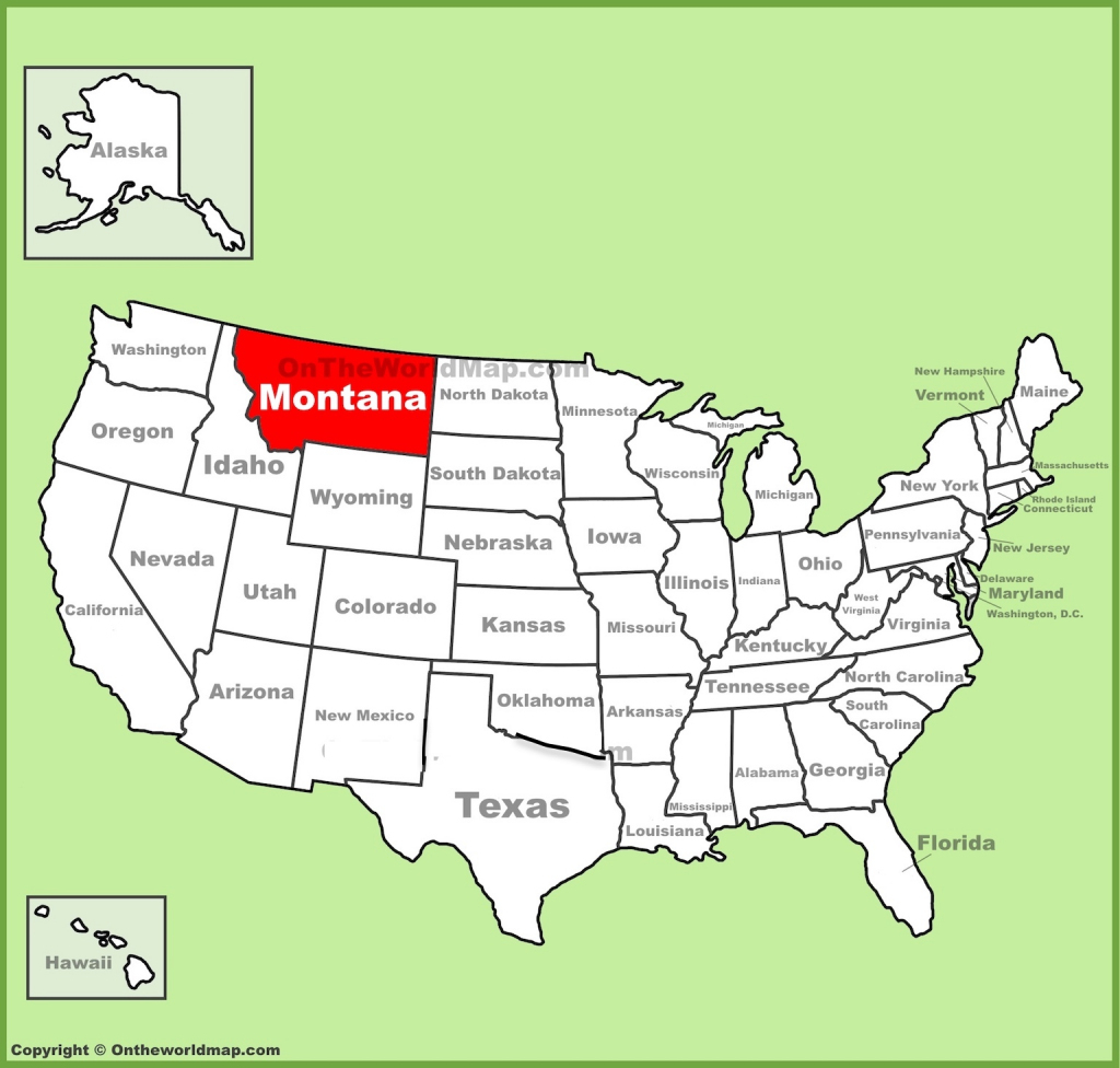 Map Of Montana Free And Printable with regard to Printable Map Of Montana