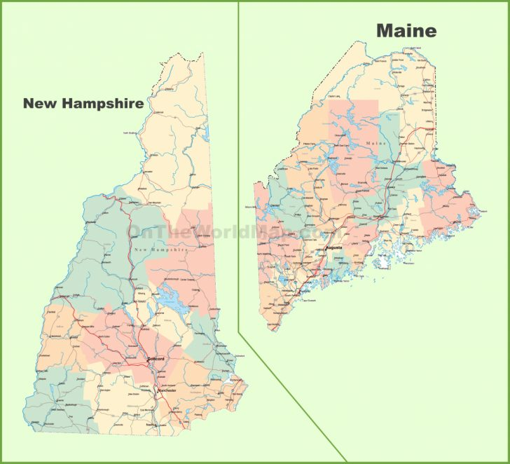 Printable Road Map Of Maine