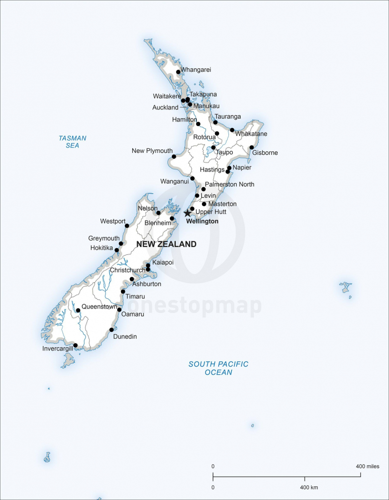 Map Of New Zealand Political In 2019 | Maps Of Australia - Continent in Printable Map Of New Zealand
