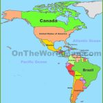 Map Of North And South America Pertaining To Printable Map Of North And South America