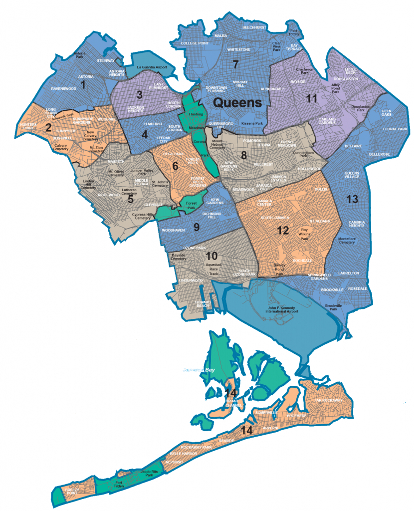 Map Of Nyc 5 Boroughs & Neighborhoods pertaining to Map Of The 5 Boroughs Printable