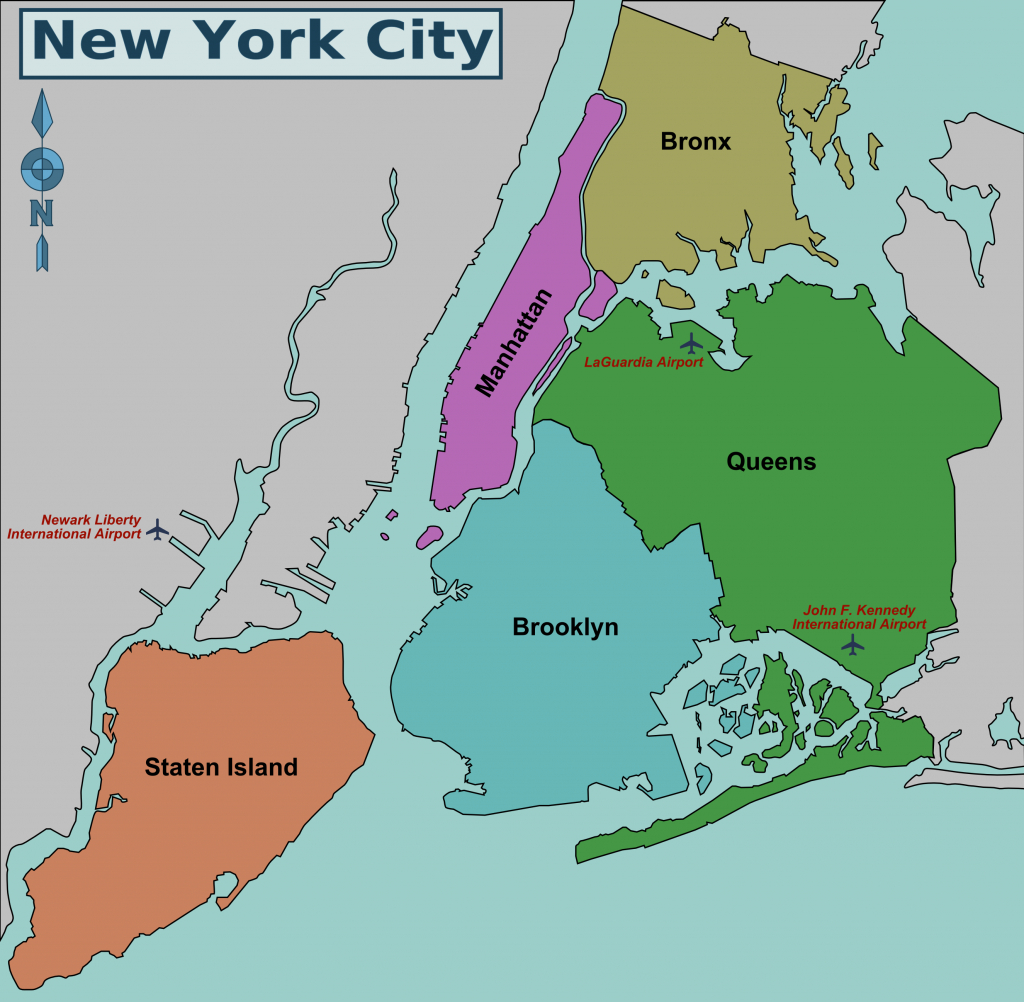 Map Of Nyc 5 Boroughs & Neighborhoods with Map Of The 5 Boroughs Printable