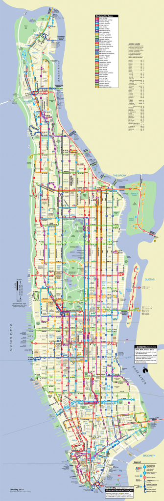 Map Of Nyc Bus: Stations & Lines regarding Printable Manhattan Bus Map