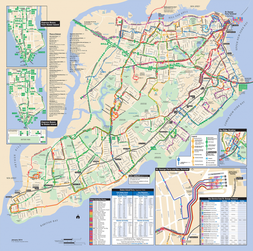 Map Of Nyc Bus: Stations & Lines with Printable Manhattan Bus Map