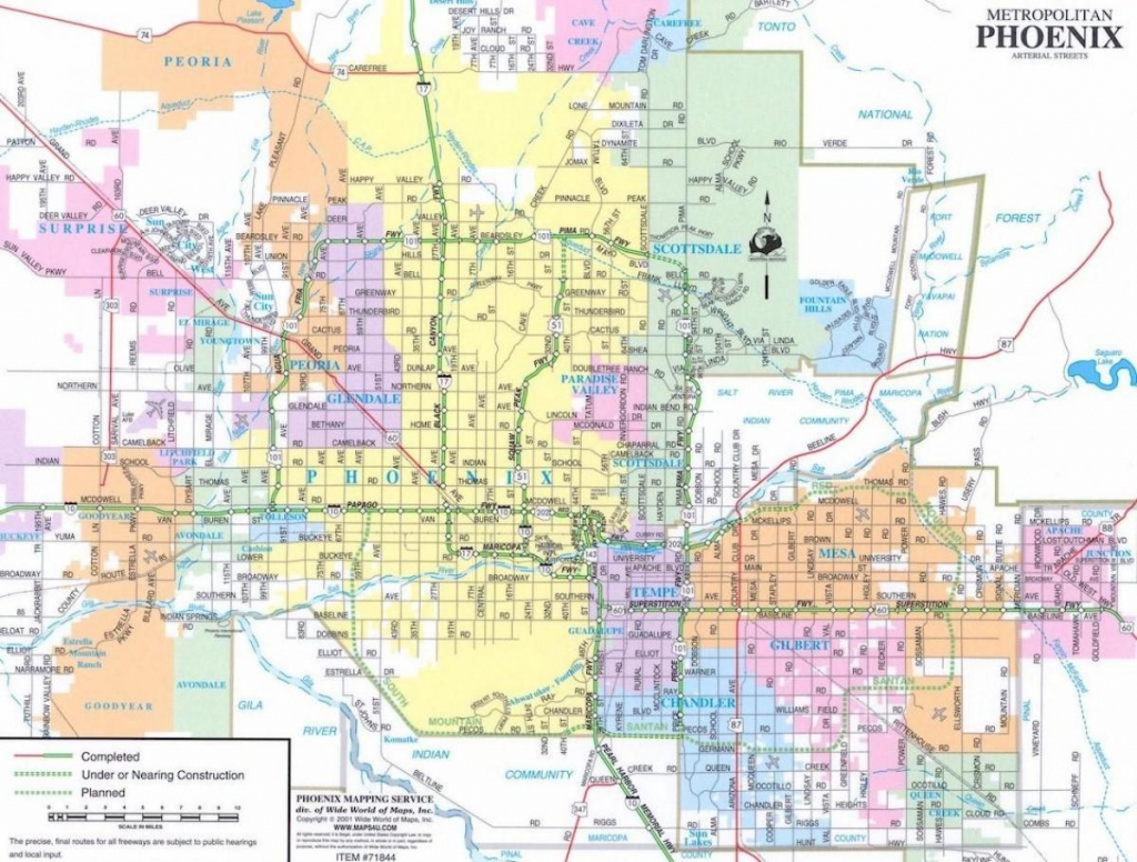 Map Of Phoenix And Surrounding Area - Map Of Phoenix Arizona And throughout Phoenix Area Map Printable