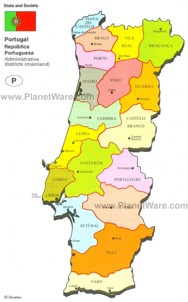 Map Of Portugal | Planetware with regard to Printable Map Of Portugal
