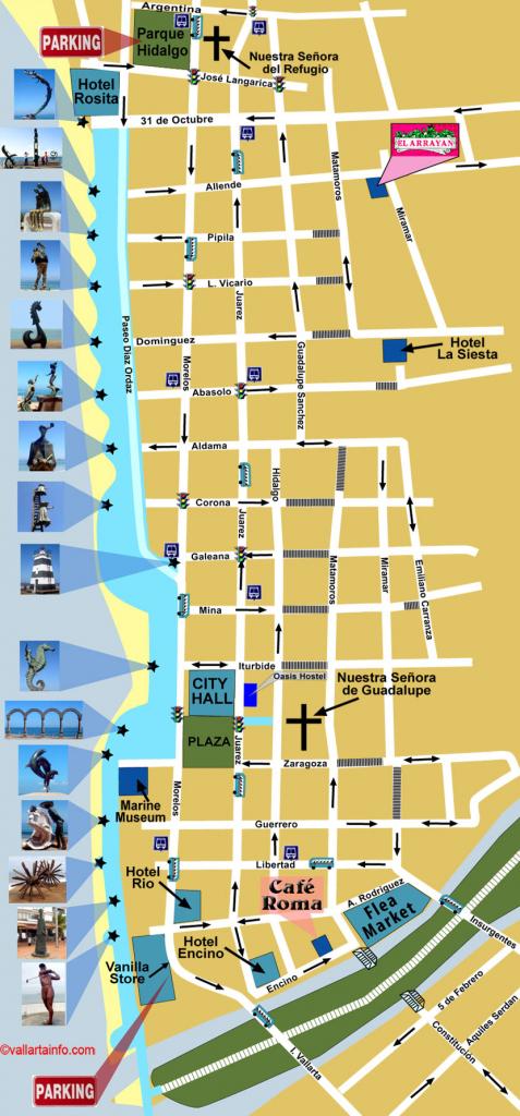 Map Of Puerto Vallarta Downtown - Vallarta Info throughout Puerto Vallarta Maps Printable