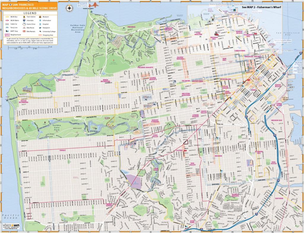 Map Of San Francisco: Interactive And Printable Maps | Wheretraveler inside Printable Map Of San Francisco