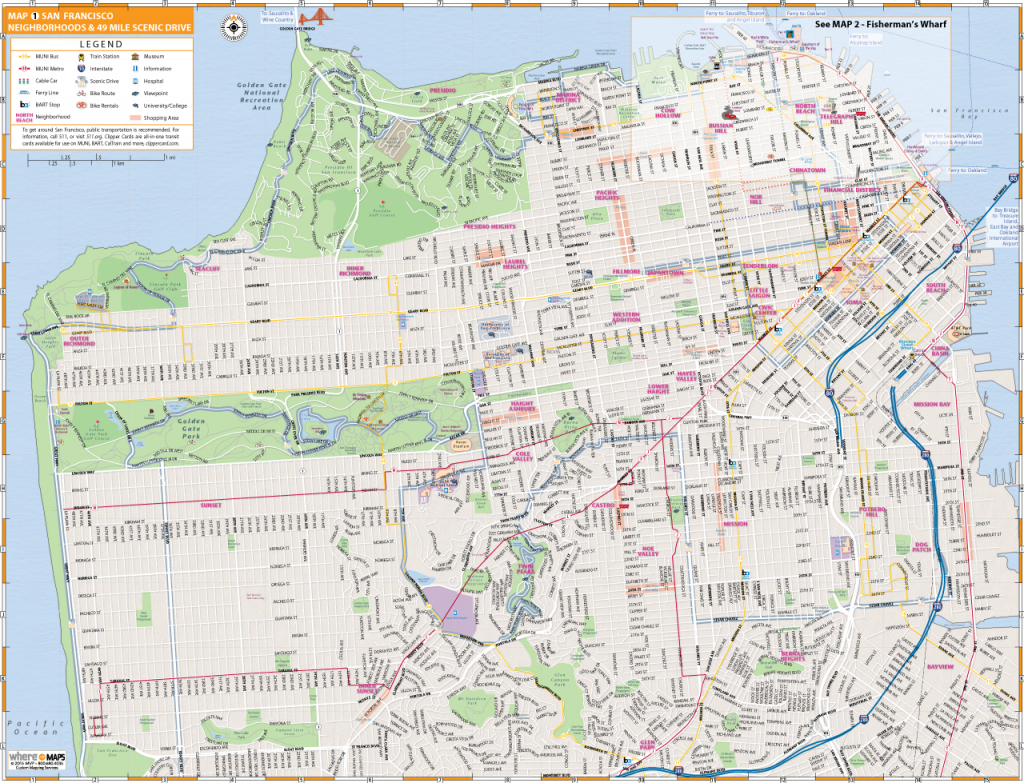 Map Of San Francisco: Interactive And Printable Maps | Wheretraveler throughout Map Of San Francisco Attractions Printable