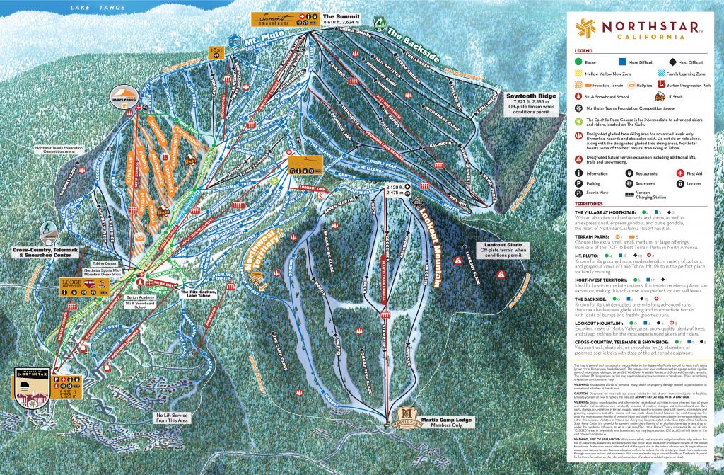Map Of Ski Resorts In California Free Printable Panoramas Scenic within Free Printable Aerial Maps