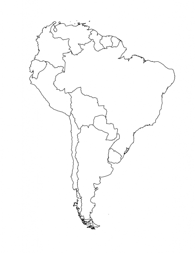 Map Of South American Countries | Occ Shoebox | South America Map for Outline Map Of North America Printable