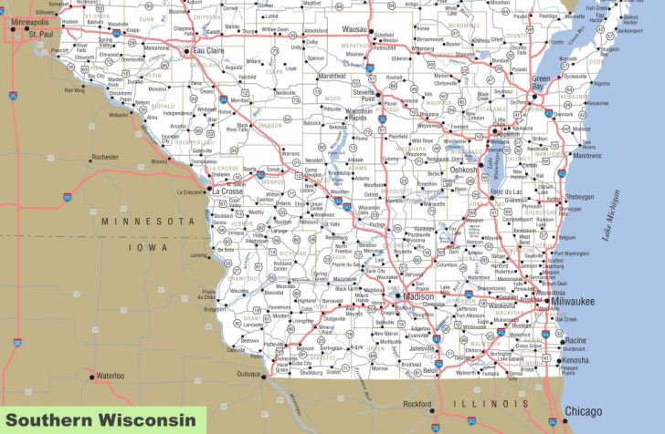 Wisconsin Road Map Printable