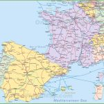 Map Of Spain And France For Printable Map Of France With Cities And Towns