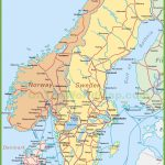 Map Of Sweden, Norway And Denmark Inside Printable Map Of Sweden